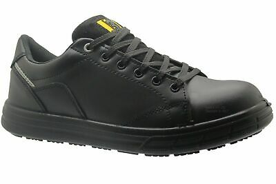 Mens Safety Leather Trainers Shoes Boots Work Ladies Hiking Steel Toe Cap Size