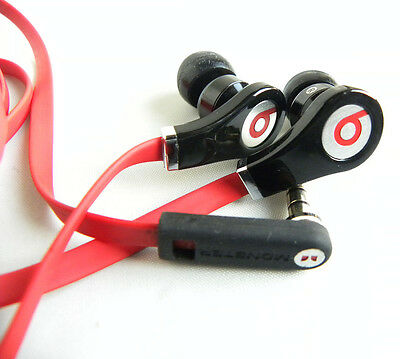 Monster Beats by Dr. Dre Tour Headphones In-Ear Ear Buds ControlTalk Black/Red