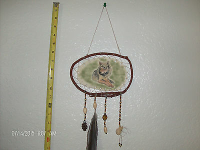 Wolf Totem Dreamcatcher Hand Made
