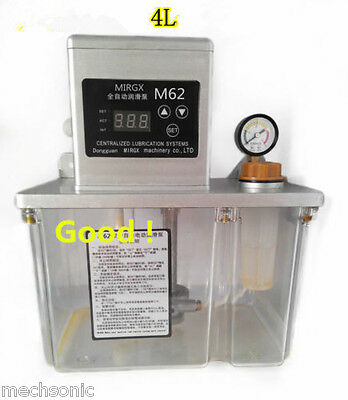 4L Auto Lubrication Pump Digital Electronic timer Automatic oiler 110V or 220V s