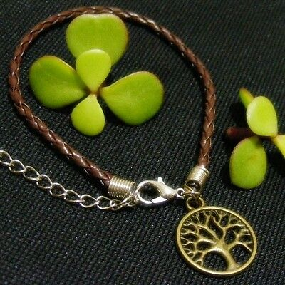 TREE of LIFE Lucky Charm Braided Bracelet WISDOM ~ PROTECTION ~ STRENGTH Amulet