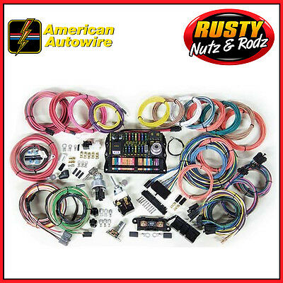 american autowire highway 15 complete wiring harness kit 500703 american autowire highway 22 complete wiring harness kit