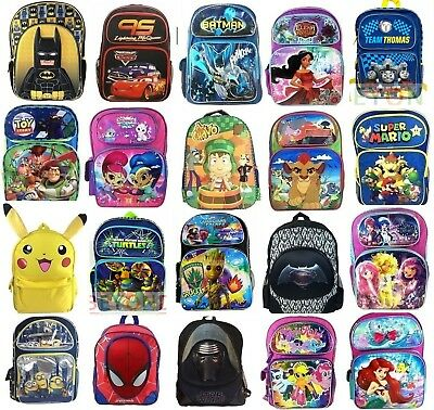 "16"" Large School Backpack Book Bag Backpack for Girls Boys Teenagers Multi-Color"