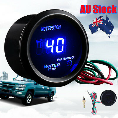"HOT Car AUTO 2"" 52mm DIGITAL Blue WATER TEMP TEMPERATURE 40-150℃ GAUGE AU Stock"