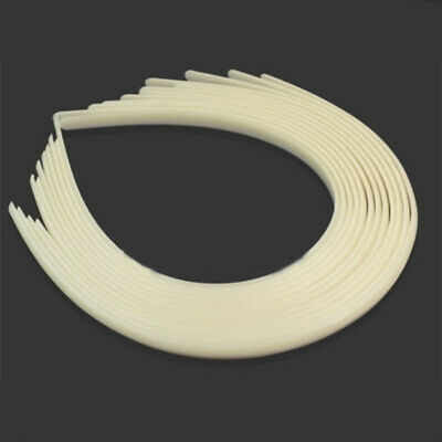 Wholesale Lots 12 White Plain Women Plastic Hair Hoop Band Headbands for Crafts