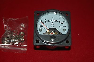 AC 0-10A Analog Ammeter Panel AMP Current Meter SO45 directly Connect