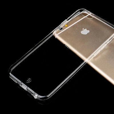 IPHONE 6PLUS Ultra-Thin Aluminum Metal Bumper Clear Back Case Cover SKin GEL NEW