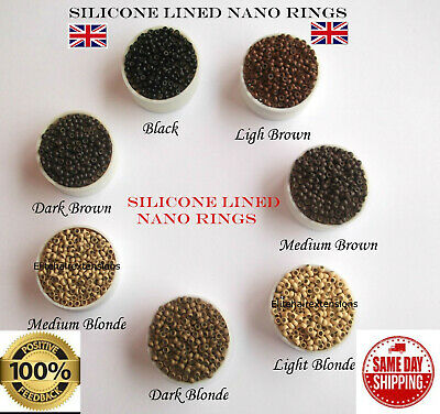 200/400/600/800/1000 Silicone Lined Nano Rings, Free Tool With Every Order!!!!