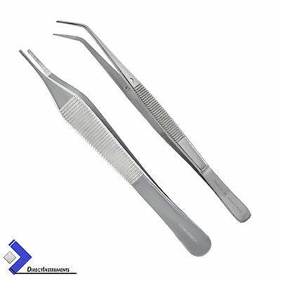 Medical Adson Tweezer London College Surgical Cotton & Dressing Tissue Forceps