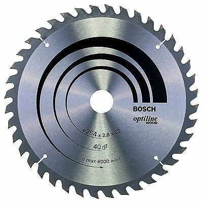 Bosch Optiline Wood circular saw blade 254 x 30 x 2.8 mm. 40 2608640443