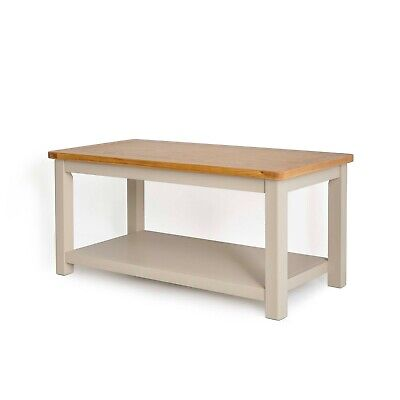 Padstow Painted Coffee Table / Solid Wood Cornish Stone Painted Table /Brand New