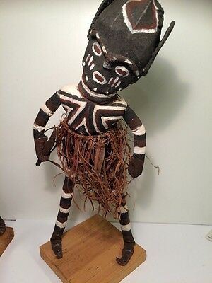 Witchcraft Doll West Africa 37cm Painted Fabric Material Wood Witchdoctor 1970's