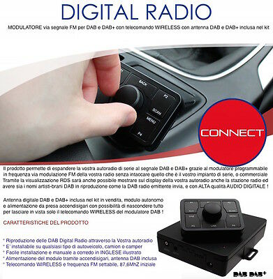 INTERFACCIA DAB DAB+ Digital Radio con RDS modulatore FM per JEEP DODGE CHRYSLER
