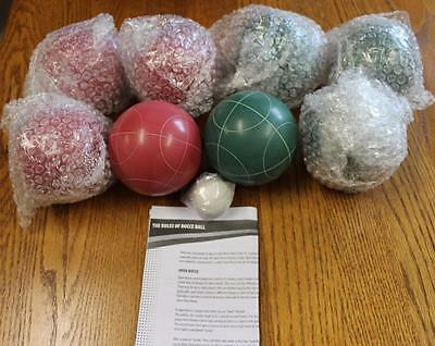 BRAND NEW Quality Bocce Ball Set - 9 Balls & Nylon Carry & Storage Bag - HEAVY!!