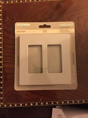 Genuine Lutron Satin SC-2-TP (Taupe) Two Gang Designer Wallplate FREE SHIPPING