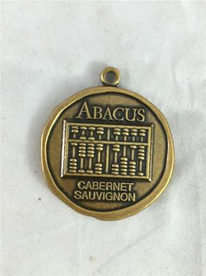 NEW Abacus Cabernet Sauvignon Napa Valley Seventeenth 17th Bottling Metal Charm