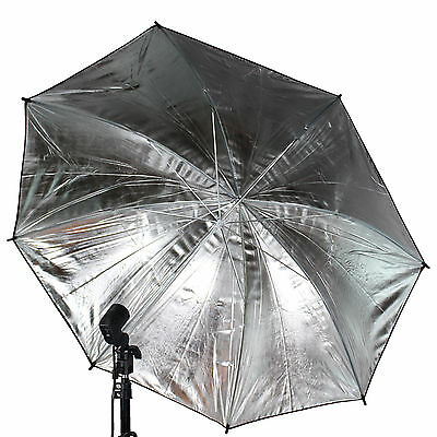 "US SELLER ~ 33"" 83cm Photography Light Photo Studio Video Black Silver Umbrella"