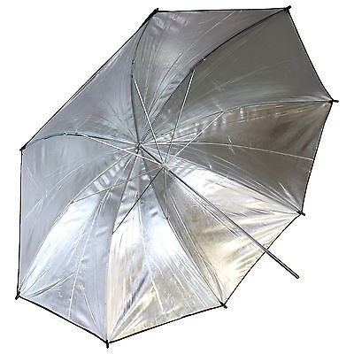"US SHIP Photo Studio 33"" Black Silver Reflective Umbrella For Video Lighting Kit"