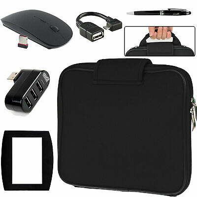 EEEKit Carrying Sleeve Bag+USB Hub+OTG Cable+2.4G Mouse for Nextbook Flexx Ares