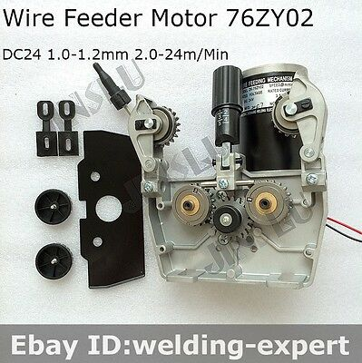 MIG MAG Welding Accessories CO2 Mig Wire Feed Motor 24V 1.0-1.2mm 2.0-24m/min