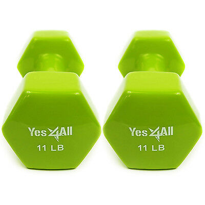 Vinyl Coated Dumbbells Hand Weight Excercise 11 lbs Pair (22 lbs ) - ²7DA0C