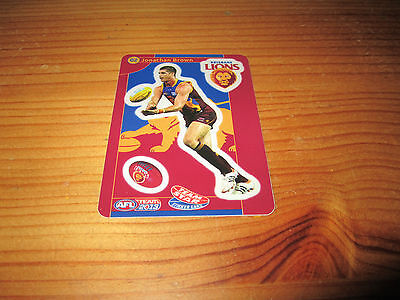 Brisbane Lions Jonathan Brown 2013 Afl Team Coach Star Sticker Card Teamcoach