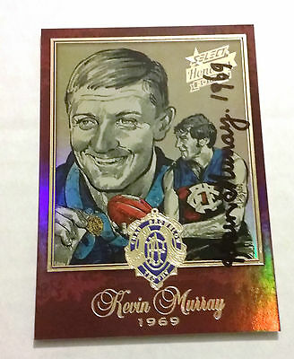 Fitzroy Lions - Kevin Murray Signed 2014 Select Honours Brownlow Sketch Card