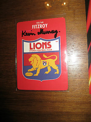 Fitzroy Lions - Kevin Murray Signed 1991 Logo Card