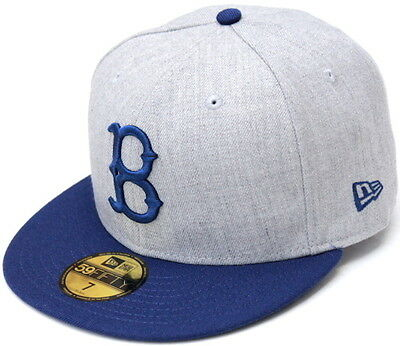 9eb36821cdf MLB BROOKLYN DODGERS New Era Heather Gray Royal Blue