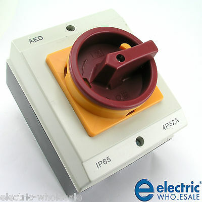 32A 20A Isolator IP65 Waterproof Plastic Load Break Switch 32 Amp 20 Rotary