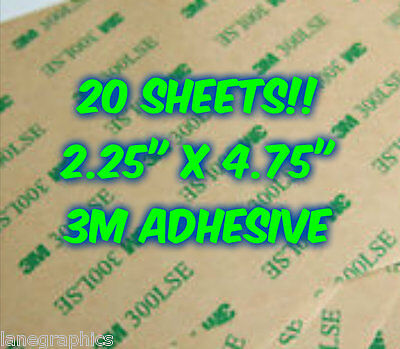 20 SHEETS 3M 300LSE Industrial Double Sided Adhesive Cardmaking Crafts Glue Foam