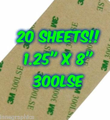20 SHEETS 3M 300LSE Industrial Strength Double Sided Adhesive Felt & Foam Crafts