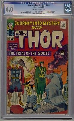 Journey Into Mystery #116 Cgc 4.0 Thor Avengers Daredevil Frightful Four