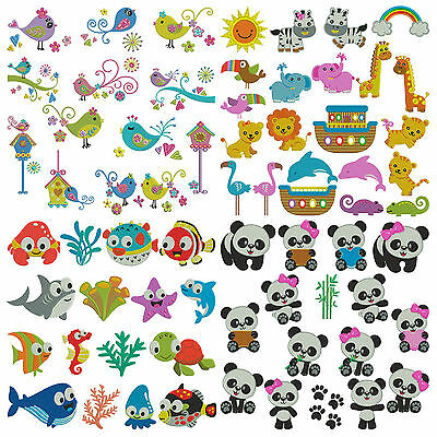 BUNDLE PACK 19 ANIMALS * Machine Embroidery Patterns * 4 Sets 66 Designs