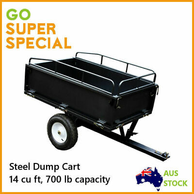 Dump Cart Steel, Garden Tipping Trailer 700 lb load 14cuft, New