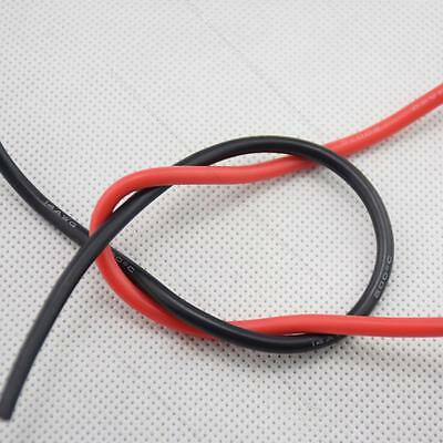 14AWG Gauge Silicone Wire #T Flexible Stranded Copper Cables 5m for RC black red