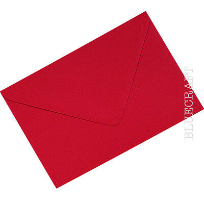 4.48 x 6.38 inches 100 x A6 C6 Poppy Red 100gsm Envelopes 114 x 162mm