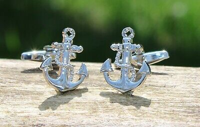 Men's Anchors Cufflinks and Gift Box ~ Novelty Formal Accessory