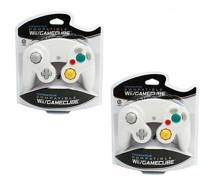 2 X White Game Wired Controller Pad for Nintendo Gamecube GC WII US NEW