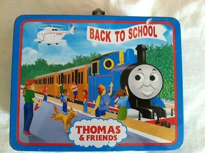 Collectible Thomas The Train Tin Lunch Box With Puzzle