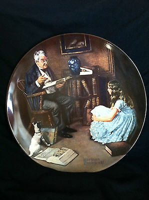 Vintage 1983 Collectible Plate The Storyteller By Norman Rockwell
