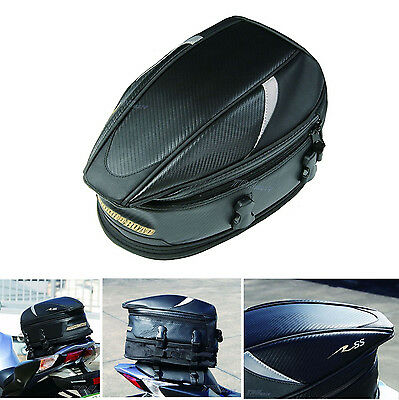 Expandable Rear Saddle Tail Hand Bag  Motorbike Motorcycle Waterproof cover Tail