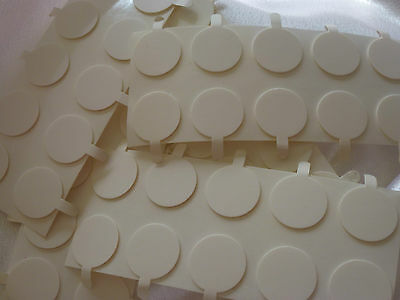Candle making, 100 x 20mm wick stickers Free postage. Sticky dots - stickums.