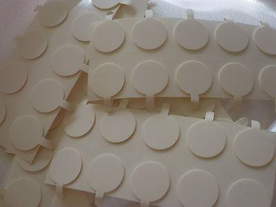Candle making, 50 x 20mm wick stickers Free postage. Sticky dots - stickums.