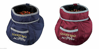 Activity Goody Bag Snack Pouch with Front Pocket Reflective Piping & Belt Clip