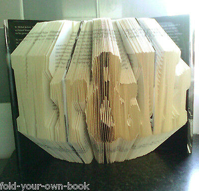 Folded Book Art Folding PATTERN ONLY #1218 Wedding