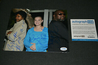 SINEAD O' CONNOR & SLY & ROBBIE (Peter Tosh) signed Autogramm In Person 20x25cm