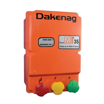 35km MAINS Electric Fence Energiser Energizer MT35 DAKEN 3 Year Warranty AU FARM