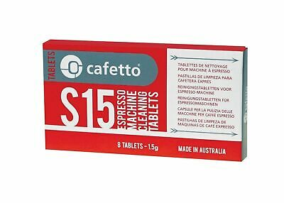 NEW CAFETTO S15 ESPRESSO MACHINE CLEANING TABLETS Coffee Pack of 16