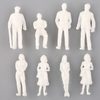 White 1 Set of 100 Model Train People Figure Passengers 1:100 HO Scale Toys